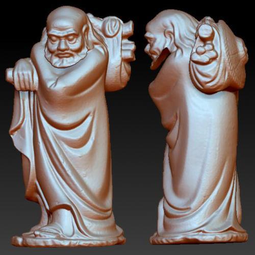 dm-004达摩 圆雕图 三维立体图 stl图 石材雕刻机 雕刻图  石材雕刻图 木雕