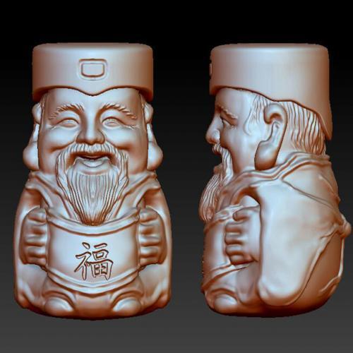 cs-010财神  石材雕刻机 雕刻图 石材雕刻图 木雕 玉雕 石雕 金属雕刻