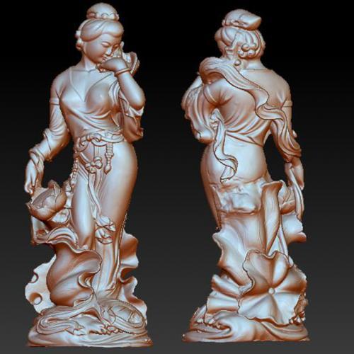 gd-708美女仕女 三维立体图 stl图 石材雕刻机 雕刻图 石材雕刻图 木雕 玉雕 石雕 金属雕刻 stl图库 立体雕刻机 墓碑雕刻机 精雕图