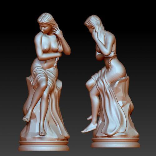 rw-702少女雕像  stl图 石材雕刻机 雕刻图 石材雕刻图 木雕 玉雕 石雕
