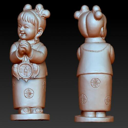 tz-713童女石材雕刻机 雕刻图 石材雕刻图 木雕 玉雕 石雕 金属雕刻 stl图库 立体雕刻