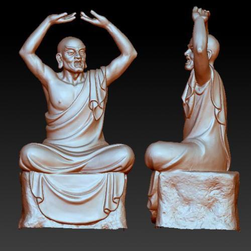sx-719十八罗汉111 石材雕刻机 雕刻图 石材雕刻图 木雕 玉雕 石雕 金属雕刻 stl