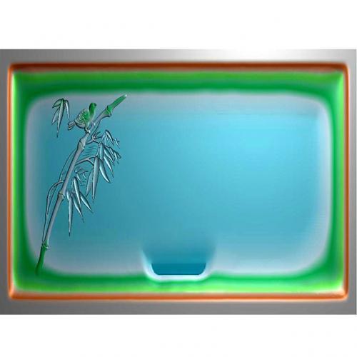 竹鸟茶盘雕刻图(HYHN-180)