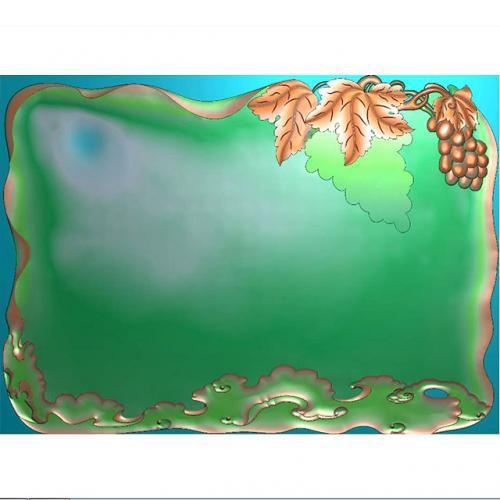 葡萄茶盘雕刻图(HYHN-218)
