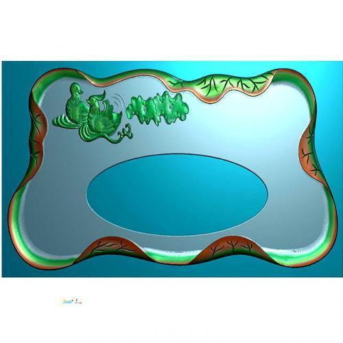 鸳鸯茶盘雕刻图(DWCP-002)