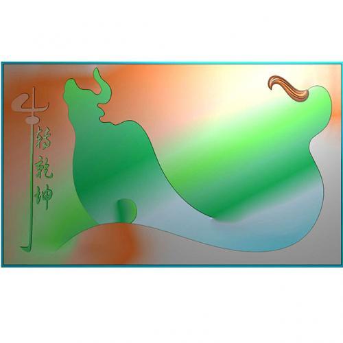 牛转乾坤精雕图(DWCP-009)