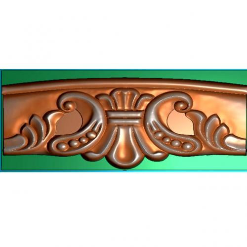 洋花牙板雕刻图(YHYB-463)