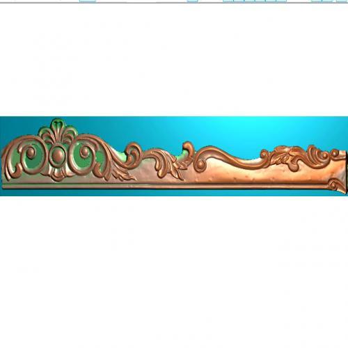 洋花牙板雕刻图加工图(YHYB-467)