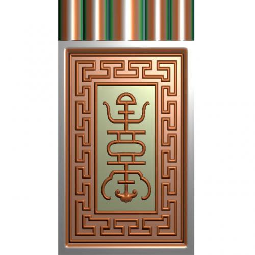 如意边柱洋花角花雕刻图(YHBJ-452-)