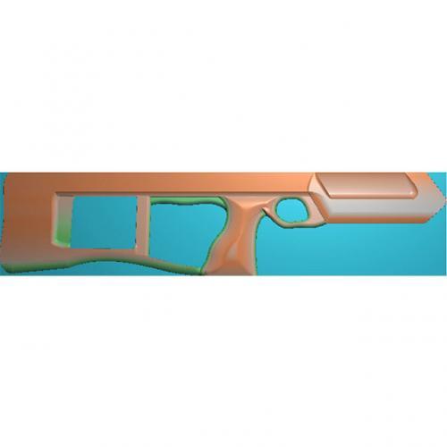 雕刻枪精雕图(Q-002)