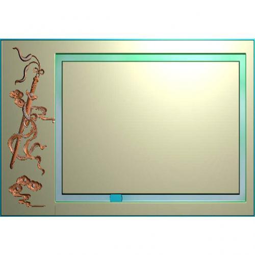 宝剑茶盘雕刻图(JYCP-119)