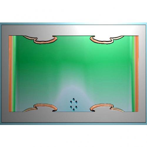 木纹茶盘浮雕图(JYCP-120)
