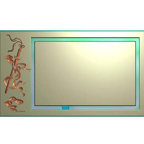 茶盘浮雕图(JYCP-205-)