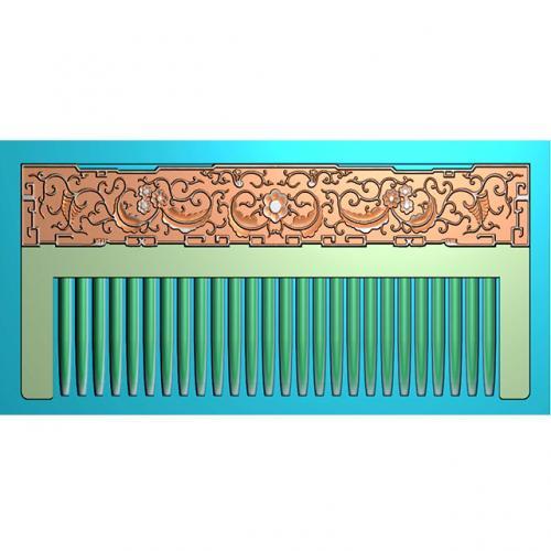 仿古花纹梳子雕刻加工图(SZ-005)