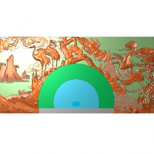 花鸟茶盘雕刻图(HNCP-451)