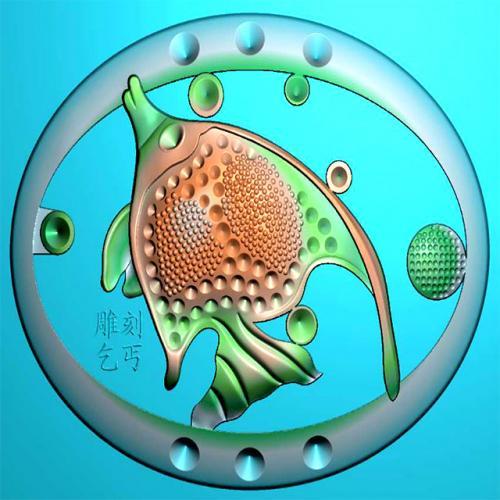 鱼线精雕图(Y-302)