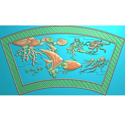 海鱼浮雕图(Y-304)