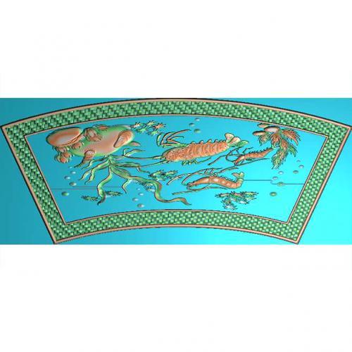 龙虾浮雕加工图(Y-305)