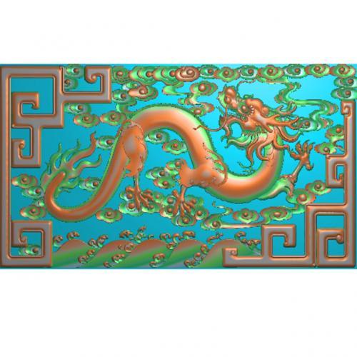 龙板大扶手精雕图(GZMB-301)