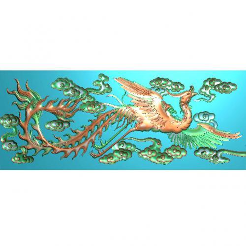 单凤精雕图(f-305)