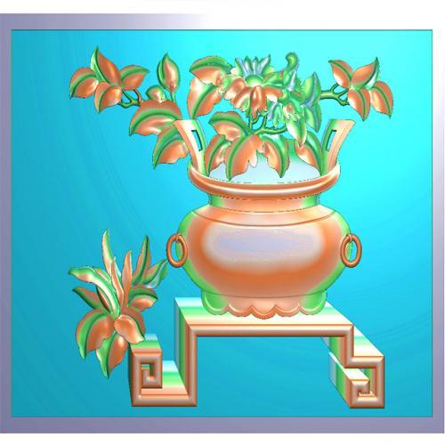 牡丹花精雕图(MD-004)