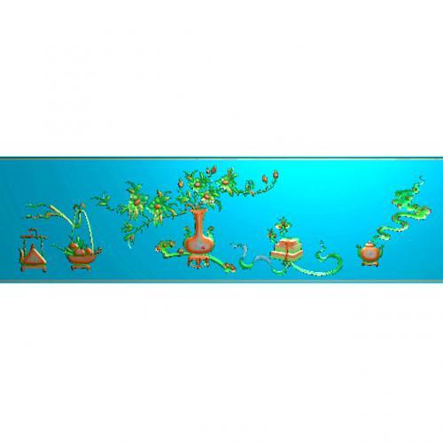 八宝花瓶精雕图(BB-458)