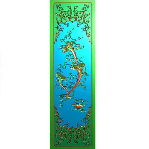 灵芝八宝精雕图(BB-459)