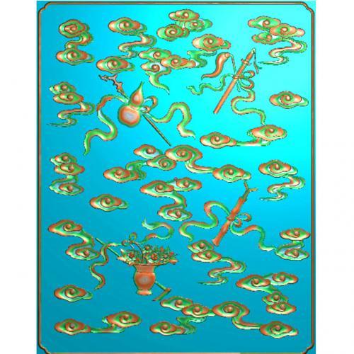 葫芦八宝浮雕图(BB-460)