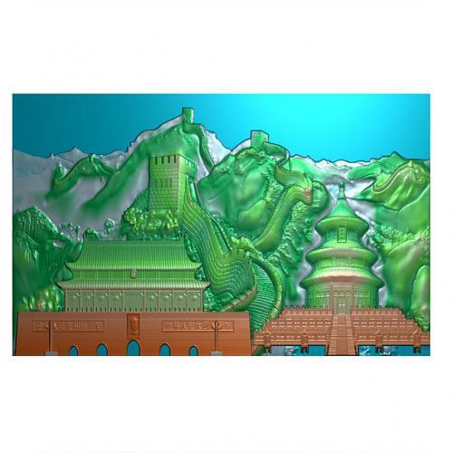 长城天坛精雕图(CCXL-251)