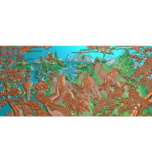 钢铁长城精雕图(CCXL-254)