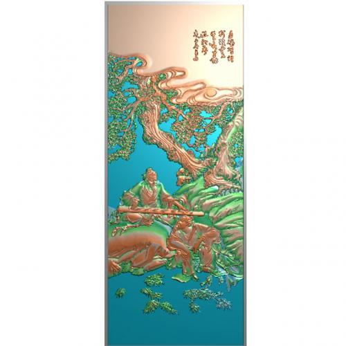 琴棋书画浮雕图(QQSH-102)