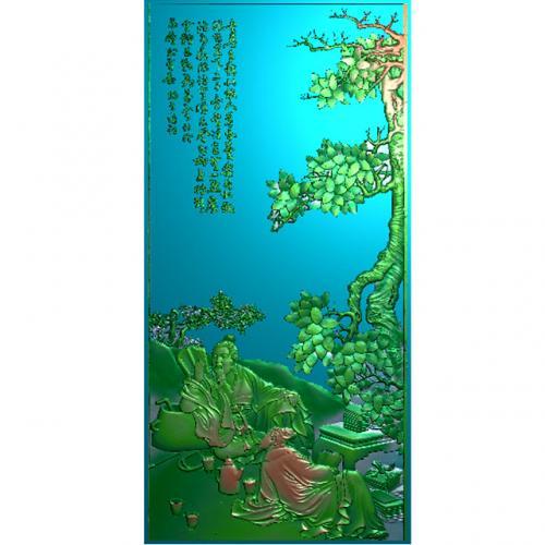 琴棋书画精雕加工图(QQSH-103)