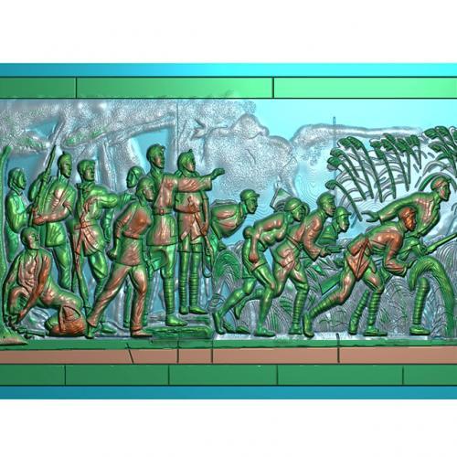 工农大革命壁画精雕图(BH-155)
