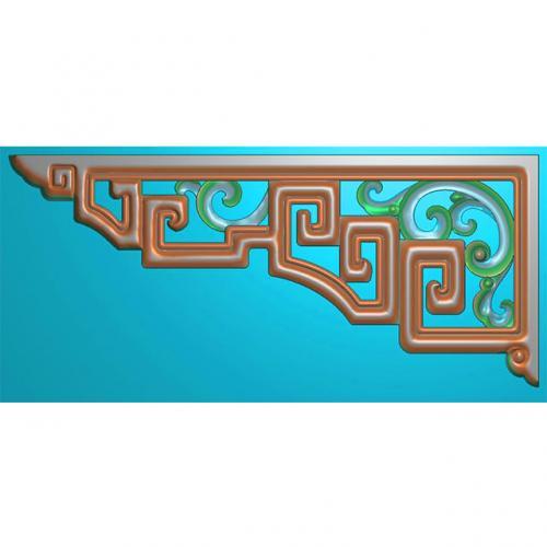 线条角花浮雕图(JH-002)