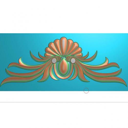 门花洋花精雕图浮雕图有线(CT-016)