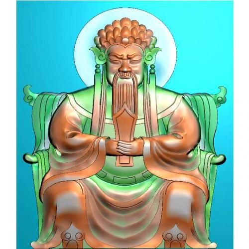 财神人物精雕图,财神人物浮雕图,财神人物雕刻图(CS-8000)
