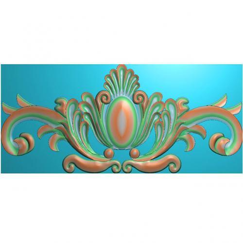 欧式洋花门花精雕图,洋花贴花浮雕图,洋花雕刻图有线(CT-207)