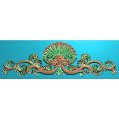 欧式洋花门花精雕图,洋花贴花浮雕图,洋花雕刻图有线(CT-234)