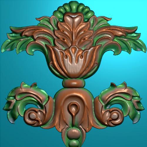 欧式洋花门花精雕图,洋花贴花浮雕图,洋花雕刻图有线(CT-279)