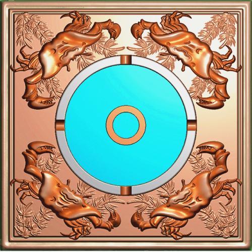 烟灰缸精雕图,烟灰缸浮雕图,烟灰缸雕刻图,烟灰缸加工图(YHG-2031)