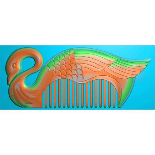 梳子精雕图,梳子浮雕图,梳子雕刻图(SZ-049)