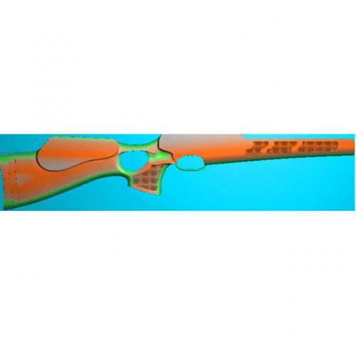 工艺品枪模型精雕图,枪浮雕图,枪雕刻图,雕刻(Q-012)