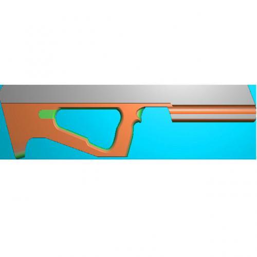 工艺品枪模型精雕图,枪浮雕图,枪雕刻图,雕刻(Q-016)