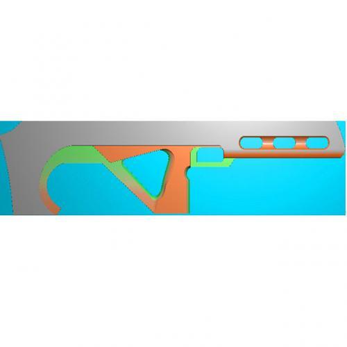 工艺品枪模型精雕图,枪浮雕图,枪雕刻图,雕刻(Q-017)