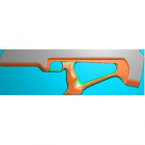 工艺品枪模型精雕图,枪浮雕图,枪雕刻图,雕刻(Q-019)