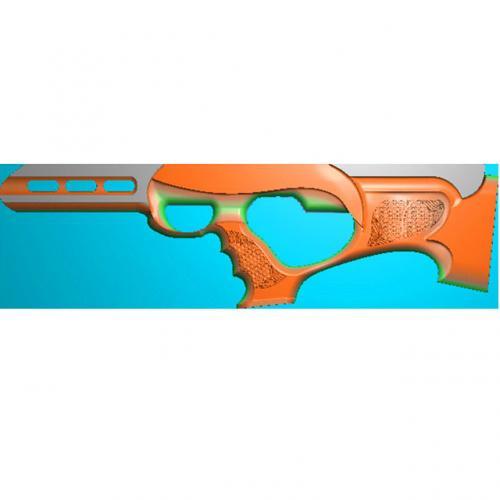 工艺品枪模型精雕图,枪浮雕图,枪雕刻图,雕刻(Q-022)