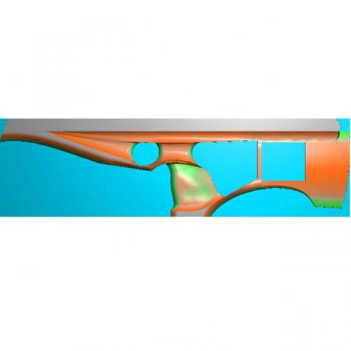 工艺品枪模型精雕图,枪浮雕图,枪雕刻图,雕刻(Q-024)