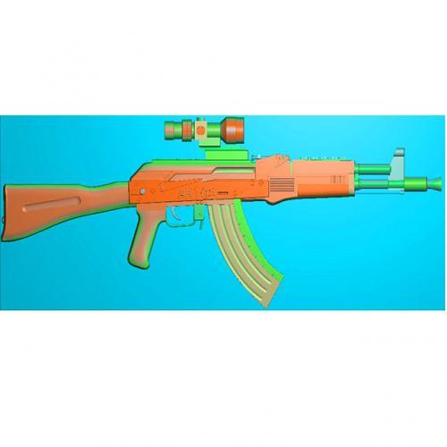 工艺品枪模型精雕图,枪浮雕图,枪雕刻图,雕刻(Q-025)