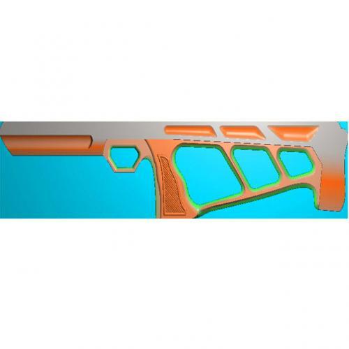 工艺品枪模型精雕图,枪浮雕图,枪雕刻图,雕刻(Q-029)