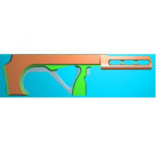 工艺品枪模型精雕图,枪浮雕图,枪雕刻图,雕刻(Q-031)